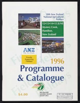 1996 Programme and Catalogue
