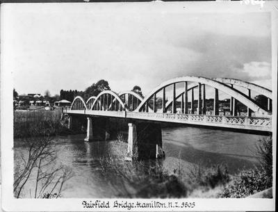 "Postcard - ""Fairfield Bridge, Hamilton, N.Z."""