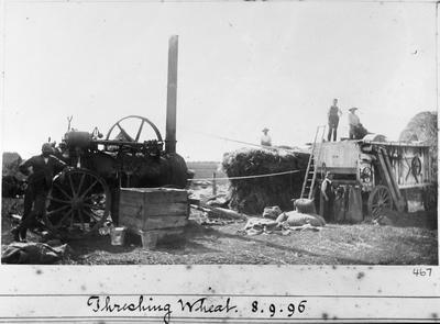 """""""Threshing wheat. 8.9.96"""""""