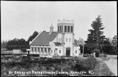 """St Andrews Presbyterian Church. Hamilton. N.Z."""