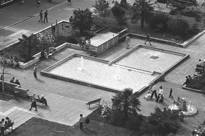 Garden Place fountains in the 1970s