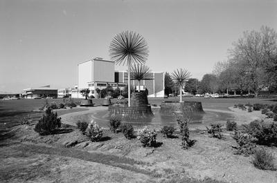 Centennial Fountain and Founders Theatre
