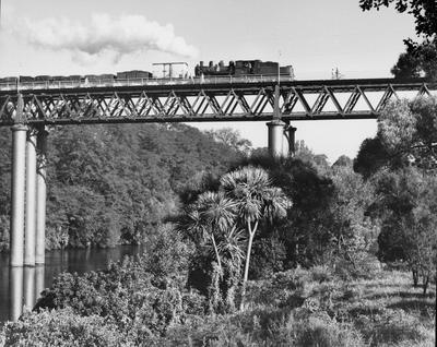 Hamilton's first Railway Bridge 1952