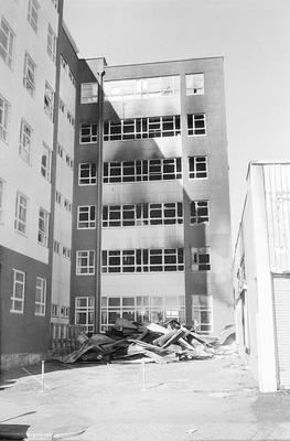 The fire damaged Rural Bank building