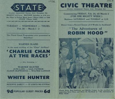 Coming attractions at the Civic and State Theatres 1939