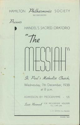 Hamilton Philharmonic Society - Messiah