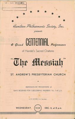 Hamilton Philharmonic Society - Messiah