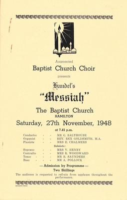 Baptist Church Choir - Messiah