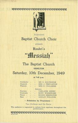 Hamilton Baptist Choir - Messiah