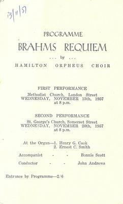 Hamilton Orpheus Choir - Brahms' Requiem