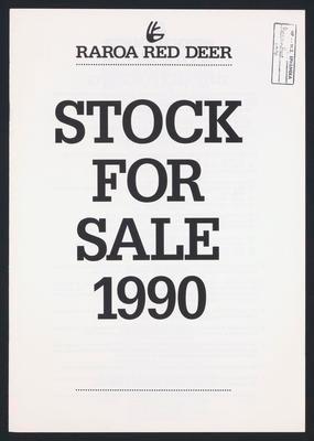 Raroa Reed Deer Stock Sale