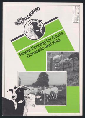 Gallagher Power Fencing for goats, domestic and wild