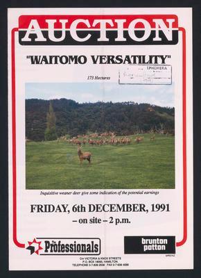 Auction Waitomo Versatility