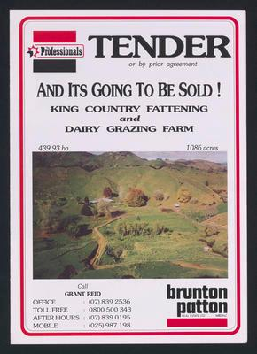 Tender and its going to be sold