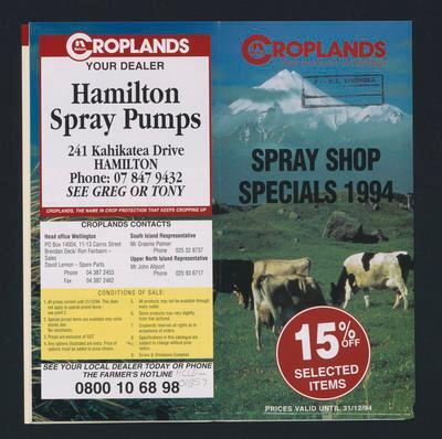 Croplands Spray Shop Specials 1994