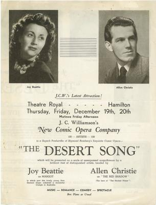 The Desert Song leaflet, 1946