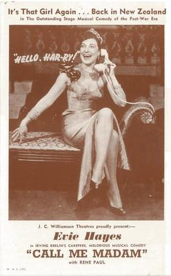 Call me Madam leaflet, 1954