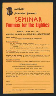 Seminar Farmers for the Eighties