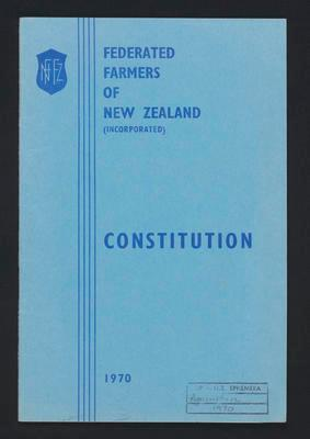 Federated Farmers of New Zealand inc Constitution