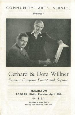 Gerhard and Dora Willner leaflet, 1948