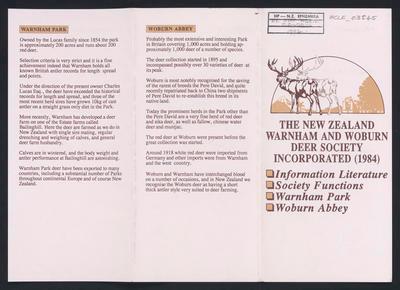 The New Zealand Warnham and Woburn Deer Society Incorporated (1984)