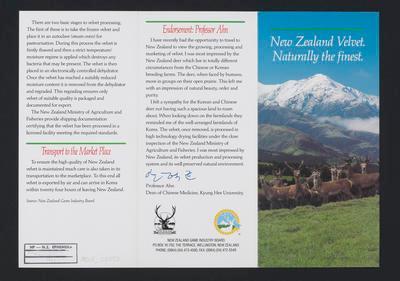 New Zealand Velvet. Naturally the finist