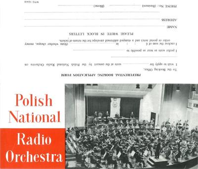 Polish National Radio Orchestra, 1963