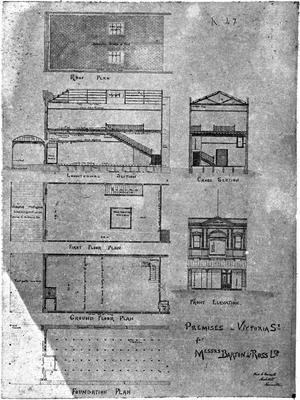 """""""Premisies in Victoria Street for Messrs Barton & Ross Ltd"""""""