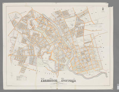 Map of Hamilton Borough 1927
