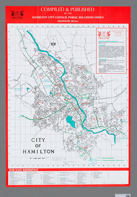 Map of the City of Hamilton
