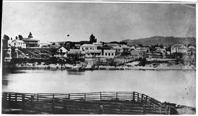 Ngaruawahia town from across the Waikato River