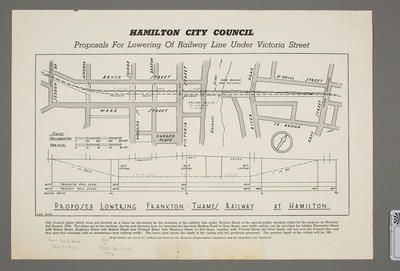 Proposals for lowering of railway line under Victoria Street
