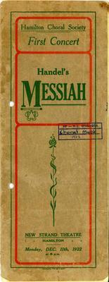 Hamilton Choral Society - Messiah