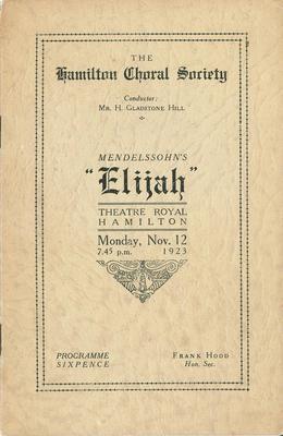 Hamilton Choral Society - Elijah