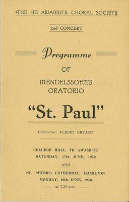 Te Awamutu Choral Society - St Paul Oratorio
