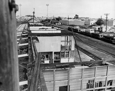 Frankton Railway station undergoing demolition