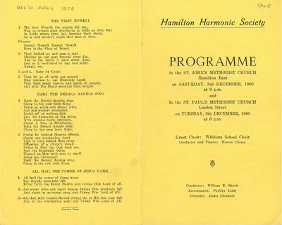 Hamilton Harmonic Society  1960