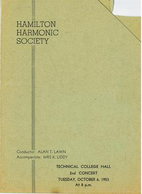 Hamilton Harmonic Society 1953