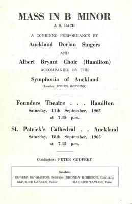 Albert Bryant Choir 1965
