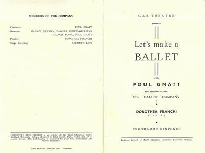 New Zealand Ballet 1954