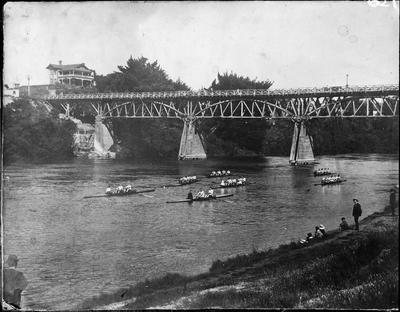 Rowing on Waikato River