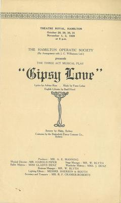 Gypsy Love, 1929