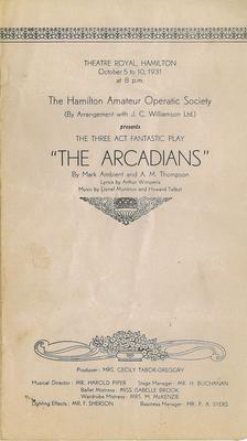 The Arcadians, 1931