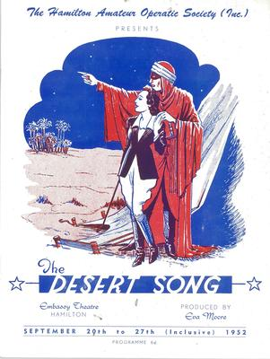 The Desert Song, 1952
