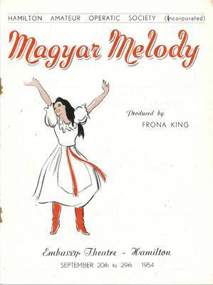Magyar Melody, 1954