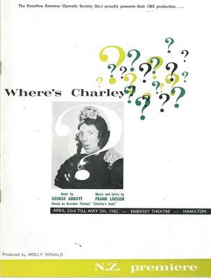 Where's Charley?, 1962