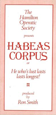 Habeas Corpus, or He Whose Lust Lasts, Lasts Longest, 1980