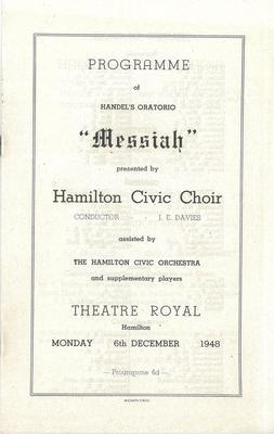 Messiah, 1948