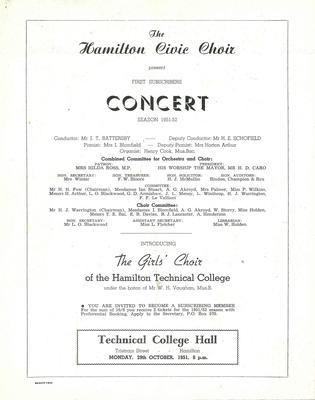 First Concert, 1951-52 Season