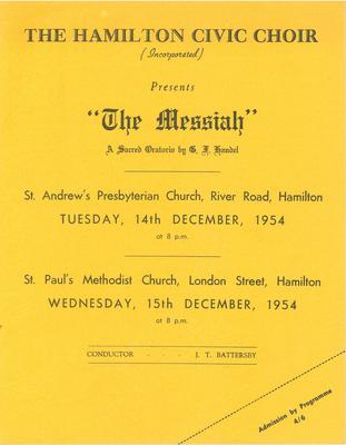 Messiah, 1954